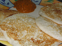 Egg white-pepper Dosa