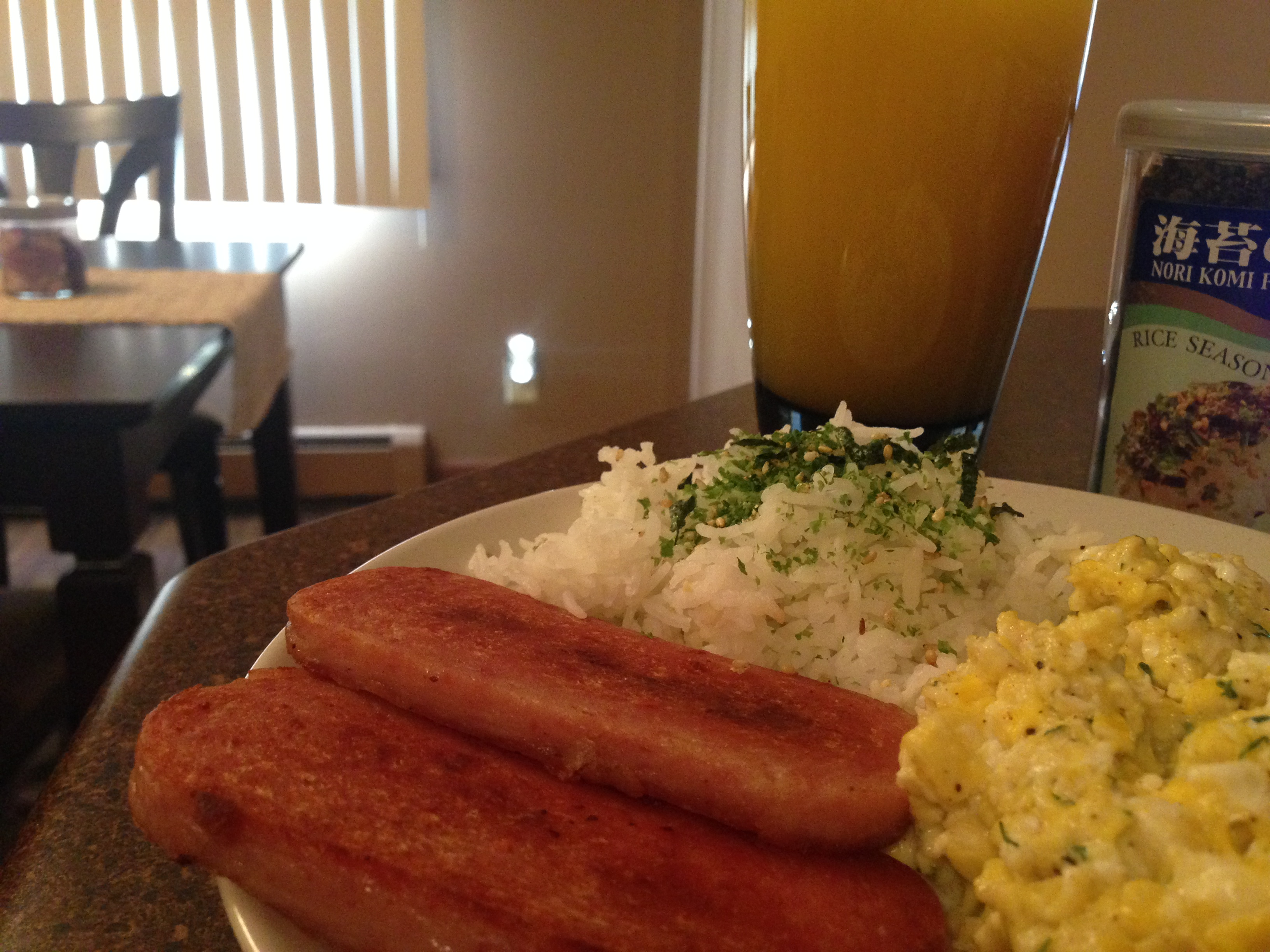 Spam Eggs and Rice