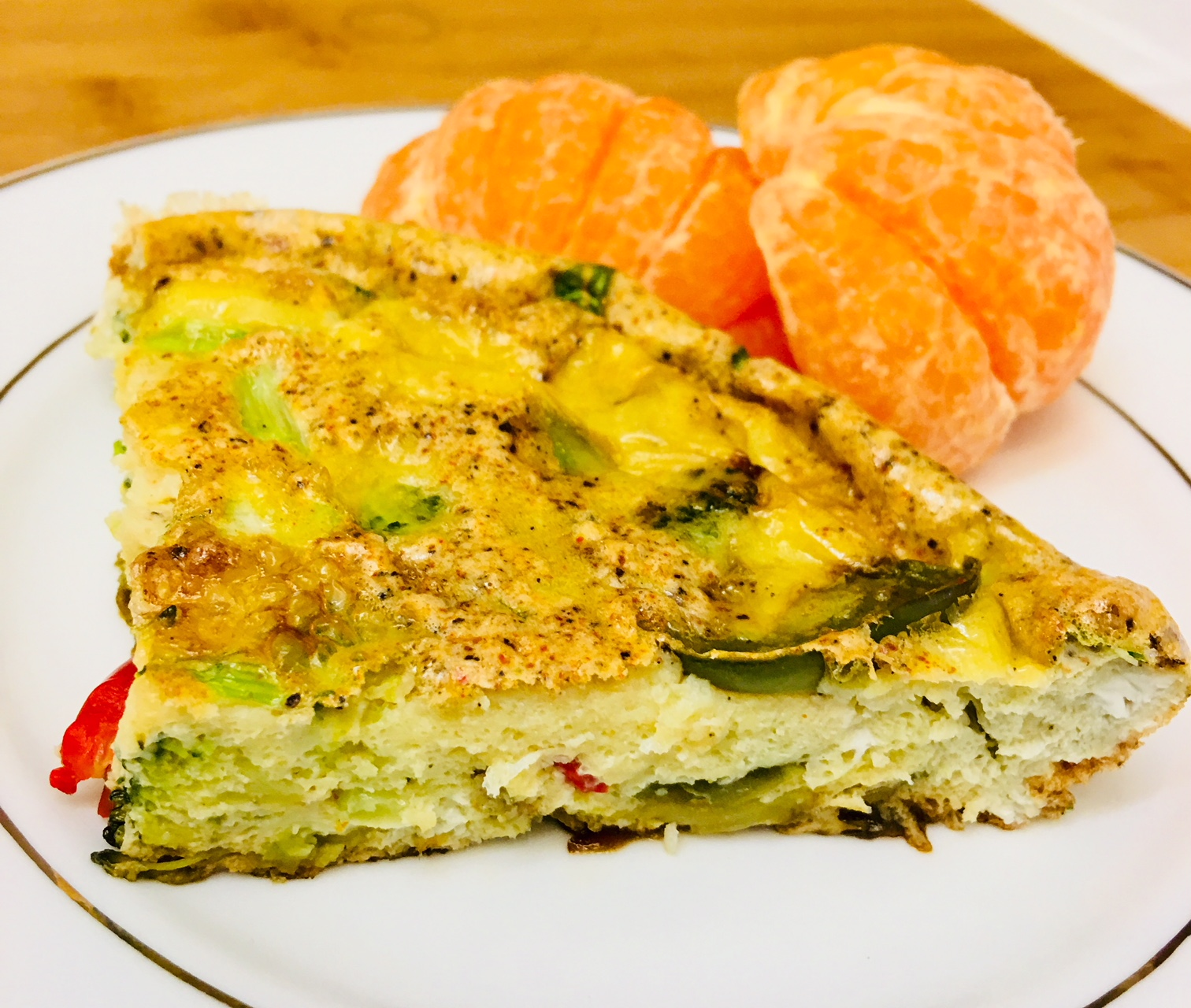 Broccoli and Peppers Frittata
