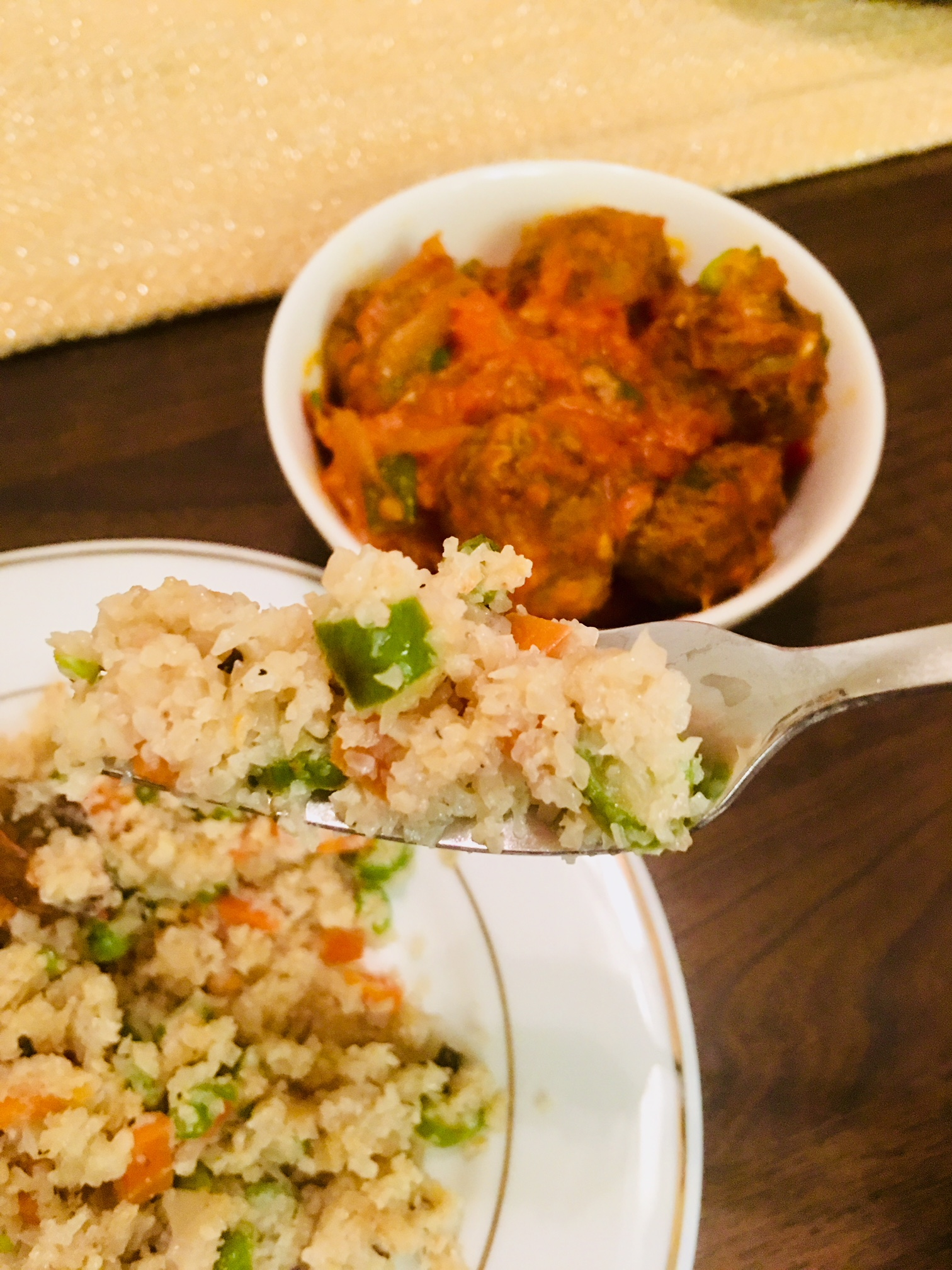Pulao using Cauliflower Rice